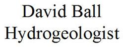 David Ball Hydrogeologist